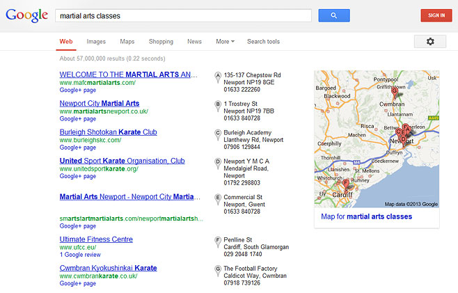 local-seo-map-listing-example